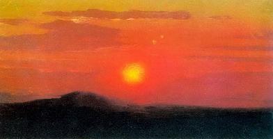 Красный закат. Эскиз (1890-е гг.)