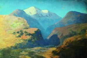 Снежные вершины гор. Кавказ (1895 г.)