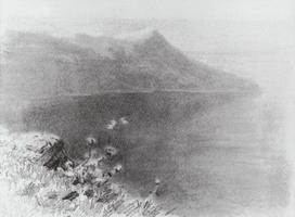Горы на берегу (Эскиз)