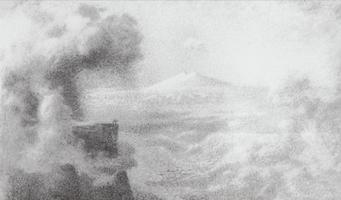 Горы и облака (Эскиз)