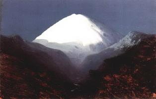 Эльбрус. Лунная ночь. Этюд (1890-1895 г.)