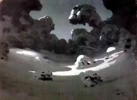 Лунное пятно в зимнем лесу (1898 г.)