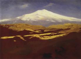 Эльбрус днем (1908 г.)