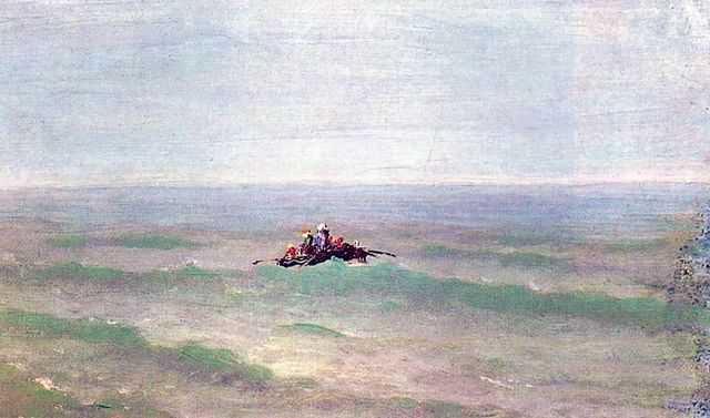 Лодка в море. Крым.
