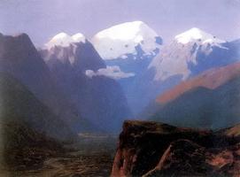 Снежные вершины. Кавказ (1890-е г.)