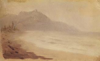 Морской берег. Вид на гору Демерджи. Крым (1880 г.)