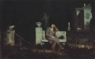 Лунная ночь. Раздумье (1890 г.)