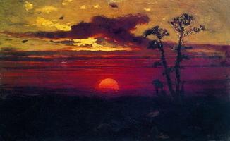 Закат солнца в лесу (1878 г.)