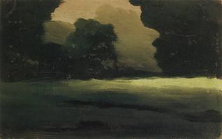 Поляна в лесу. Туман (1908 г.)