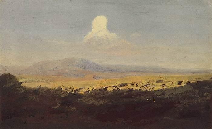 Облако над горной долиной.