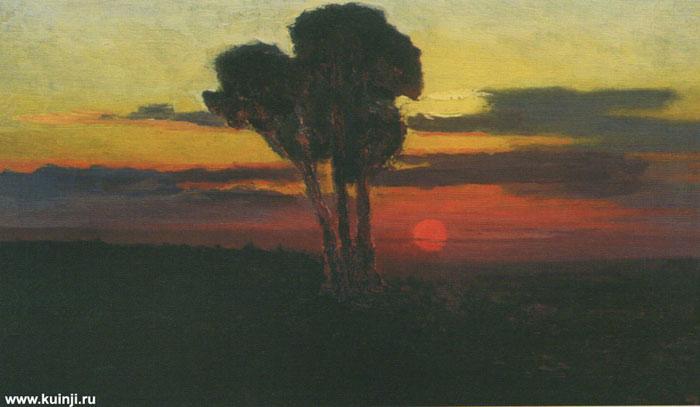 Закат с деревьями (Куинджи А.И.)