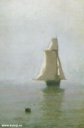 Море с парусным кораблем (Куинджи А.И.)
