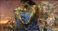 Демон сидящий. Картина Михаила Врубеля
