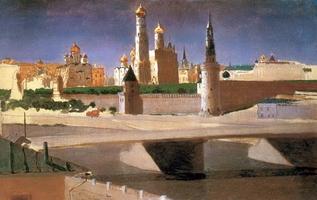 Москва. Вид на Кремль со стороны Замоскворечья (1882 г.)
