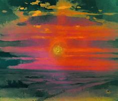 Закат в степи (1900 г.)