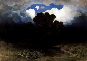 Лесное озеро, облака (1882 г.)