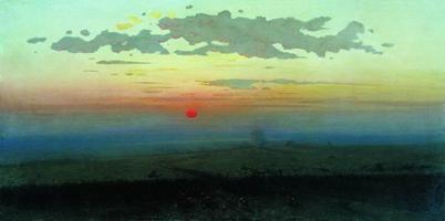 Закат в степи на берегу моря (1908 г.)