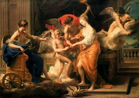 Бракосочетание Амура и Психеи (П.Д. Баттони)