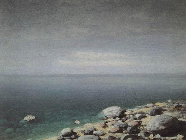 Прозрачная вода. Пасмурный день. Крым. (Куинджи А.И.)