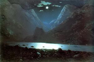 Дарьяльское ущелье. Лунная ночь (1890-1895 гг.)
