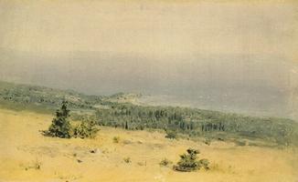 Вид на берег и море с гор. Крым (1880 г.)