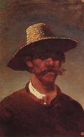 Голова крестьянина-украинца в соломенной шляпе (1895 г.)