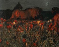 Картина Врубеля К ночи