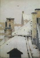 Крыши. Зима (1876 г.)