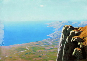 Берег моря со скалой (1908 г.)